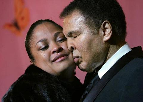 Muhammad Ali and Daughter