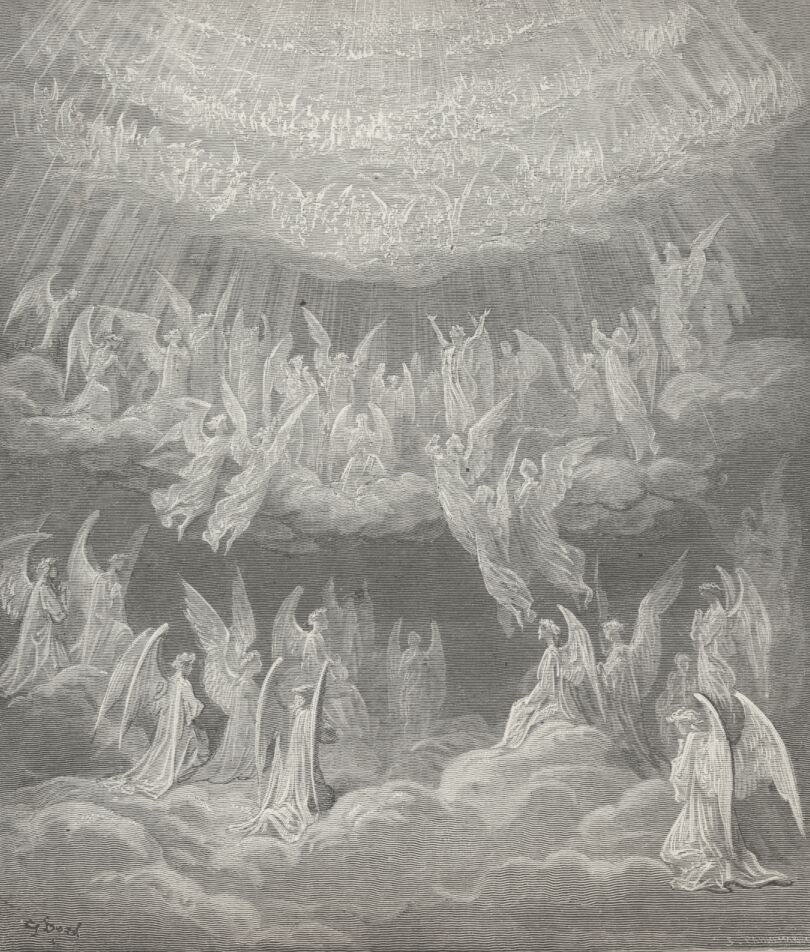 """Empyrean,"" by Gustave Dore, an illustration in Dante's ""Divine Comedy"""