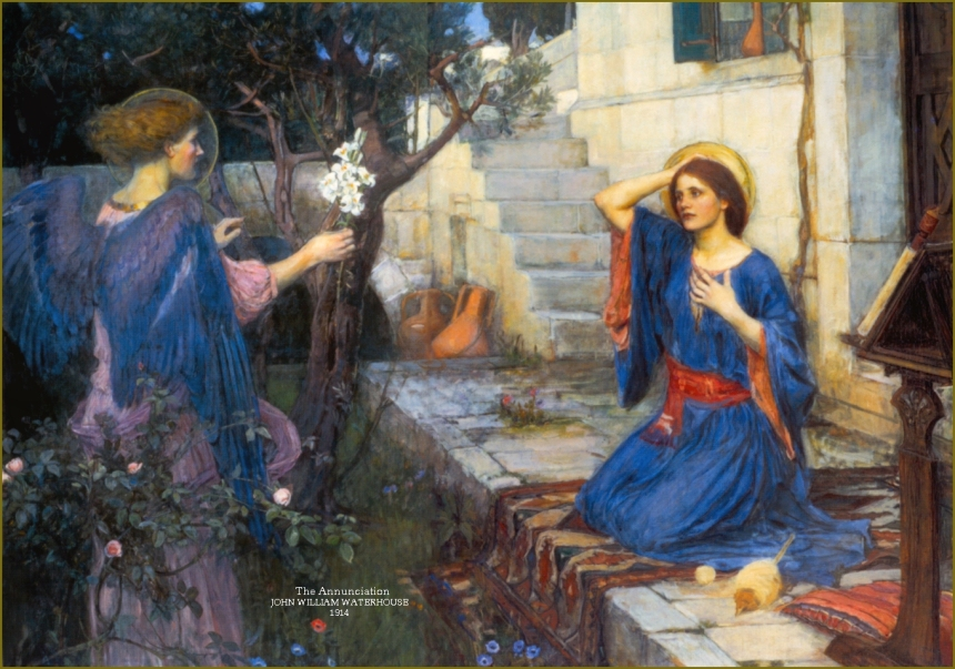 """The Annunciation,"" by John William Waterhouse"