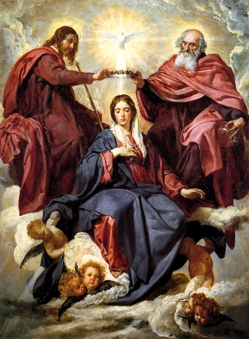 """""""The Crowning of Mary,"""" a painting by Diego Velazquez"""
