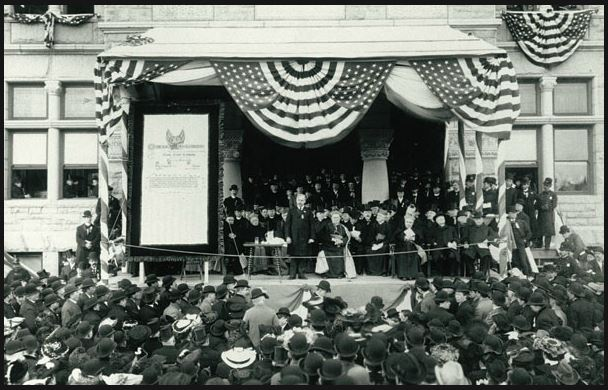 Charter Ceremony for Notre Dame Council #1477 in 1910