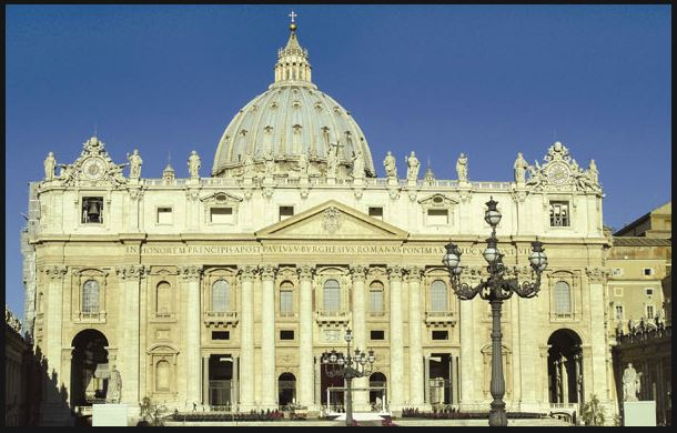 Fascade of St. Peters Basilica After Restoration, Underwritten by the Knights of Columbus