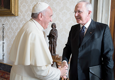 Pope Francis Meets with Supreme Knight Carl Anderson, 12/12/2014