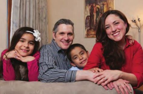 The DiCamillo Family are pictured at their home in New Jersey