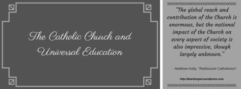 The Catholic Church and Universal Education