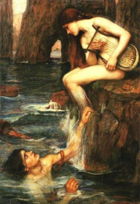 """The Siren,"" by John William Waterhouse, (circa 1900)"